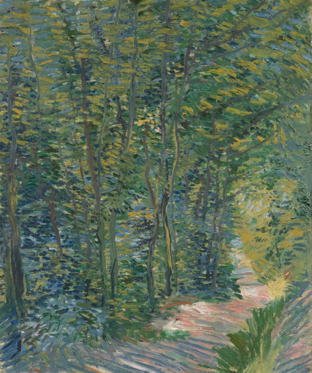 Sendero en los bosques Path in the Woods Paris, May 1887 - July 1887 Vincent van Gogh en paukf