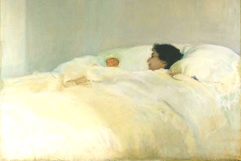 Madre Sorolla Oleo Maternidad Motherhood art arte