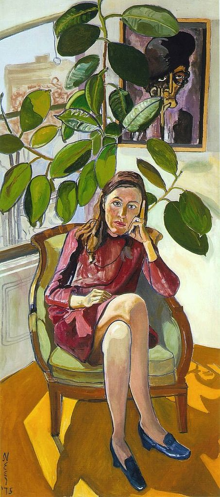 nancy-and-the-rubber-plant-1975-by-alice-neel-on-paukf-paintings-artist-female-women-i-admire-womeniadmire