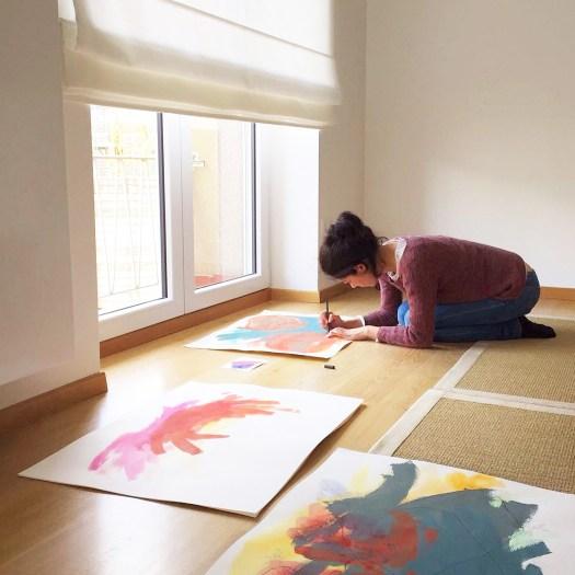 Paukf Paula Teruel about profile finishing haikugraphic artist art painter pintora