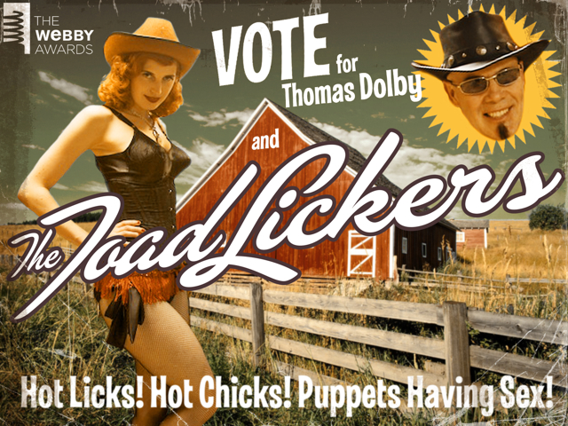 Vote For Thomas Dolby 'The Toadlickers' in The Webby Awards