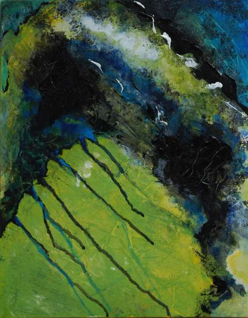 """""""Letting Go"""" original acrylic abstract painting"""