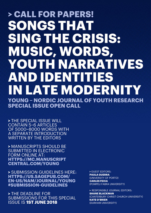 CALL | YOUNG – Nordic Journal of Youth Research | Special Issue