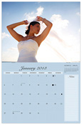 """CM-20_$30: Standard Wall Calendar (stapled); 11x8.5"""" folded; 11x17 hanging Includes Lunar cycles and National Holidays Section for Notes"""
