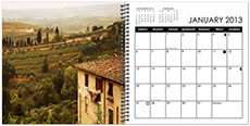 CM-70_$25: 8x8 Spiral bound Yearly Planner; Includes Lunar Cycles and National Holidays
