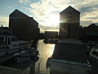 Sunset Gloucester Docks