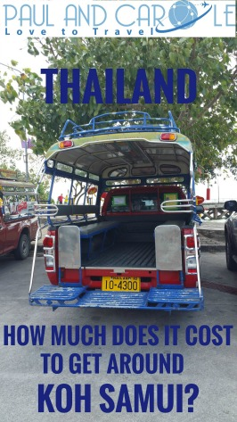 Taxis Cost of taxis and transport in Koh Samui including Navigo