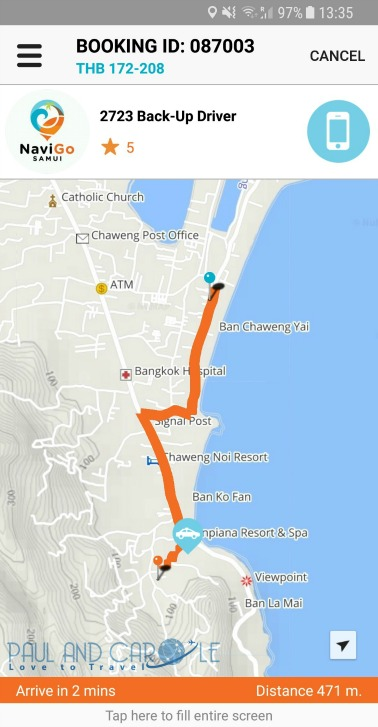 Cost of taxis and transport in Koh Samui including Navigo