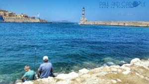 Chania Crete venetian harbour fishing