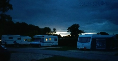 paul and carole the year we went to mars 2017 South Lytchett Manor Caravan and Camping Park campsite review poole dorset