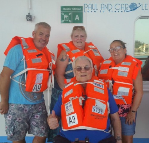 thomson dream cruise ship safety drill life jackets rules
