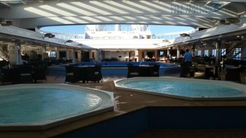 Thomson Dream Cruise Ship deck 11 jacuzzi sun swimming cruising