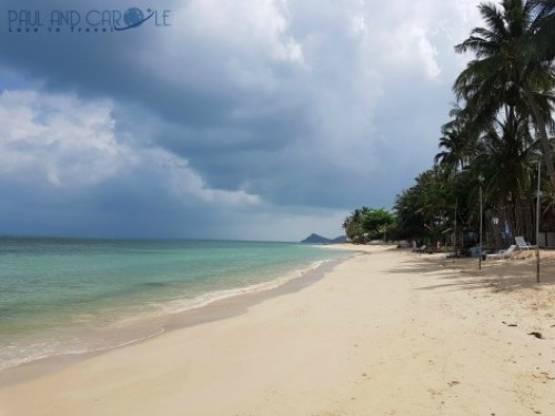 Guide to the best beautiful beaches of Koh Samui Thailand by Paul and Carole Bang por beach north quiet