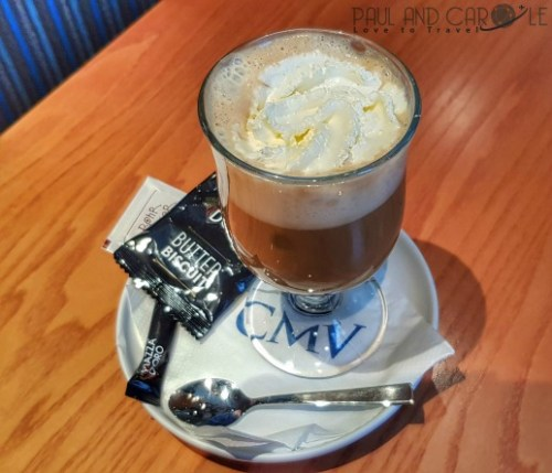 CMV Marco Polo Cruise ship columbus irish coffee captains club #CMV #cruising #maritime #voyages #marcopolo #marco #polo #cruise #reviews #captains #club #lounge #columbus #irish #coffee