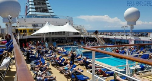 Busy pool deck on a sea day Marella Explorer 2 Cruise Ship Review    #cruise #ChooseCruise #cruising #marella #MarellaExplorer2 #TUI #explorer #review