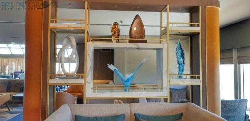 Glass sculptures and art Saga new cruise ship spirit of discovery cruise ship review #saga #cruises #spirit #discovery #SpiritOfDiscovery