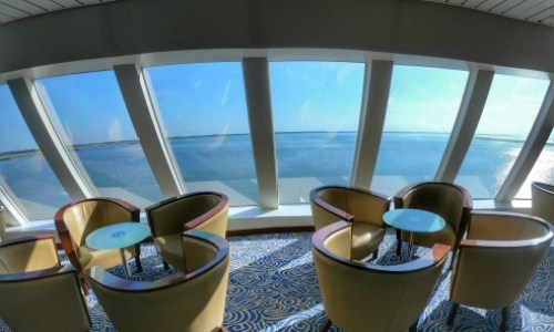 view from the observatory bar.#fredolsen #fredolsencruiseline #braemar #cruiseship #choosecruise #cruising #cruise #paulandcarole