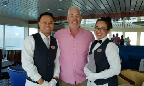 the lovely staff in the observatory bar.#fredolsen #fredolsencruiseline #braemar #cruiseship #choosecruise #cruising #cruise #paulandcarole