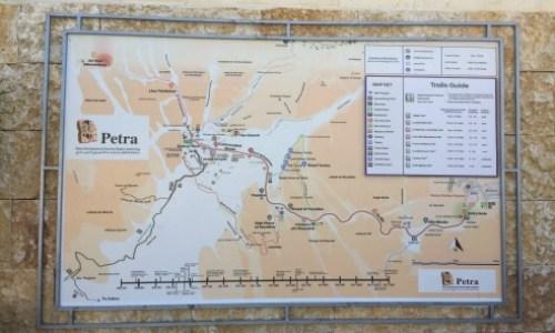 Visiting Petra Jordan,The map of petra shows us what lies ahead. #petra #wondersoftheworld #roseredcity #jordan #visitingpetra #paulandcarole
