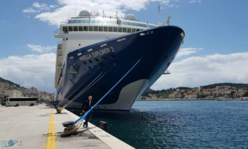 Paul checking the ropes on the Marella Explorer 2 - Paul and Carole 2019 Review  #Marella #MarellaCruises #MarellaExplorer2 #paulandcarole2019review #paulandcarole #travel #travelbloggers #travelvloggers