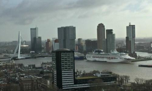 Euromast Rotterdam #amazingviews #rotterdamstallestbuildings #siteseeing #carolesscaredofheights #youcanseeformiles #erasmusbridge #pandooceana #portofrotterdam #largestportineurope