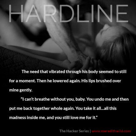 A photo quote from Hardline by author Meredith Wild