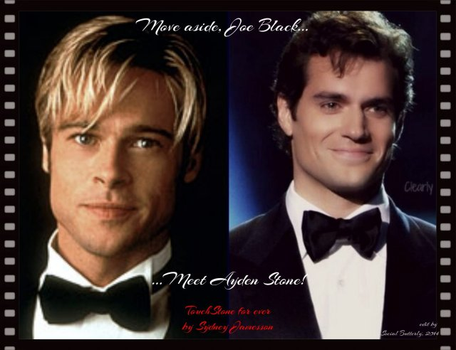 Photo depicting the comparison of characters Joe Black and Ayden Stone, fictional characters