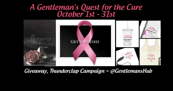 Poster regarding a breast cancer awareness campaign, A Gentleman's Quest for a Cure