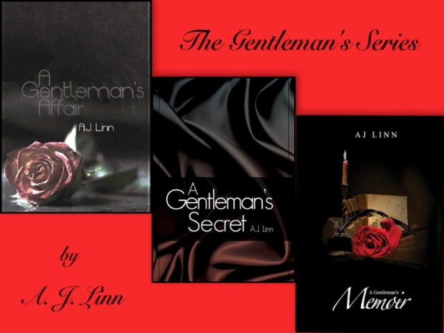 Photo depiction of the Gentleman's Series trilogy by AJ Linn