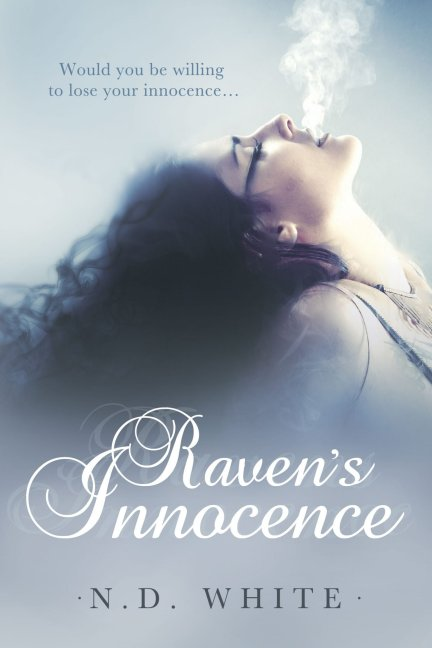 Front cover photo of Raven's Innocence, a contemporary romance novel by debut author Nicky D Whilte