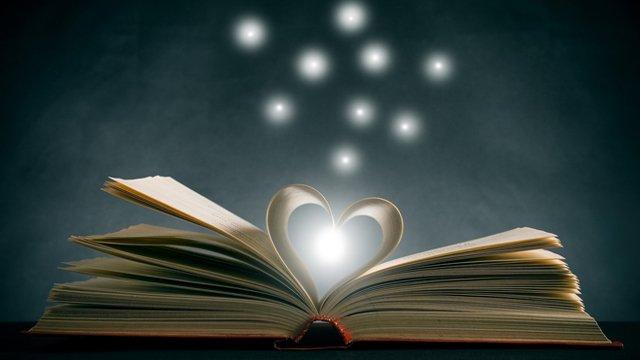 Photo image of the magic of books