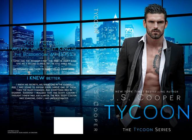 Photograph of the book cover of Tycoon, by author JS Cooper, featuring model Stuart Reardon