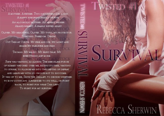 Photo of the full cover of Survival, book 1 of the Twisted Series by Rebecca Sherwin