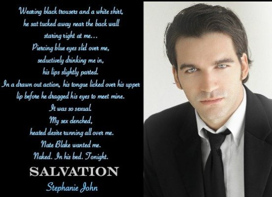 Photo quote from the contemporary romance novel, Salvation, by Stephanie John