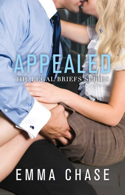 Photo of the cover of Appealed, an upcoming contemporary romance novel with legal themes by author Emma Chase
