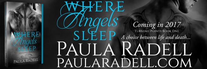 Banner ad for Where Angels Sleep, Turning Points #1 by Paula Radell