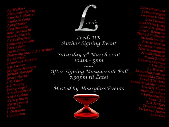 Leeds UK Author Event 2016 - Photo Announcement
