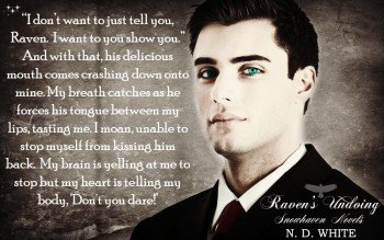 Photo depicting one of a young man, one of the lead characters in Raven's Undoing, by N. D. White