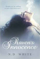 Cover of Raven's Innocence, a romantic thriller by author N. D. White
