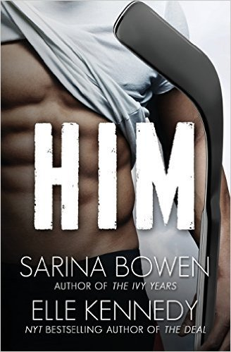 Photo of the cover of HIM, by Sarina Bowen and Elle Kennedy