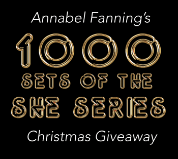 Ad for 2000 copies giveaway sponsored by author Annabel Fanning