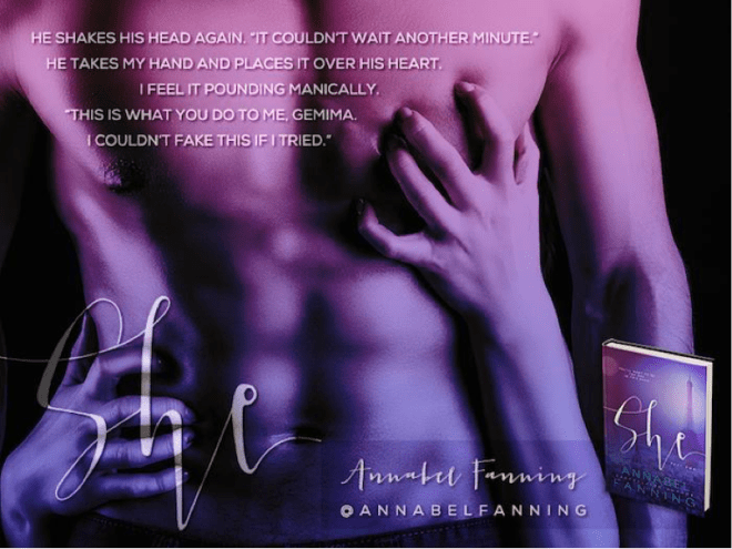 Photo teaser quote from the She series, by Annabel Fanning