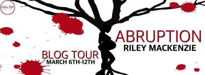 Graphic Banner for Abruption, by Riley Mackensie