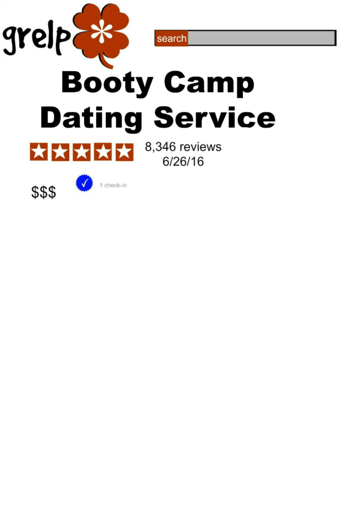 Grelp Template for Booty Camp Dating Service