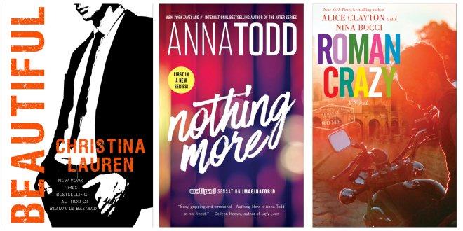 Photo of three print new release novels