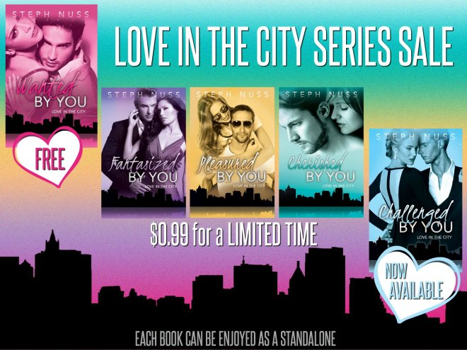 Graphic Banner ad from Love in the City, a book series by Steph Nuss