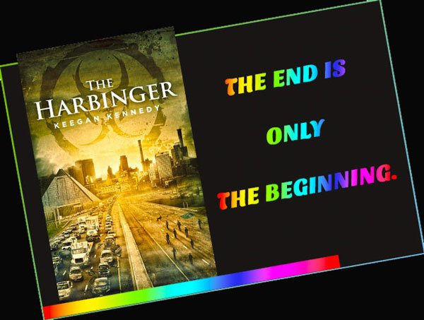 Promotional graphic for The Harbinger, by Keegan Kennedy