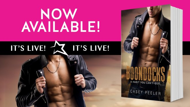 Now Available Banner for Boondocks by Casey Peeler