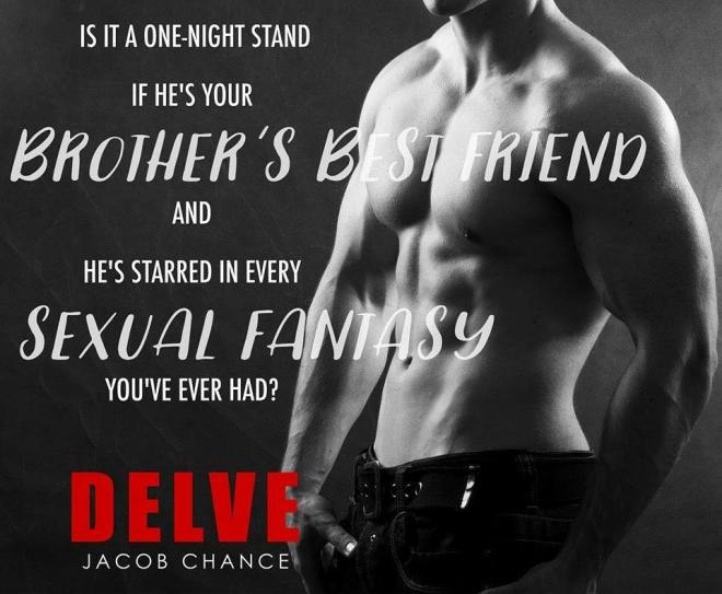 Photo of a shirtless man in jeans with a quote from DELVE by Jacob Chance