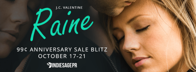 Sale Banner for Raine, by J. C. Valentine
